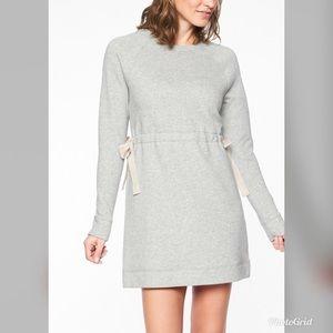 ATHLETA Studio Cinch Heather Grey Sweatshirt Dress